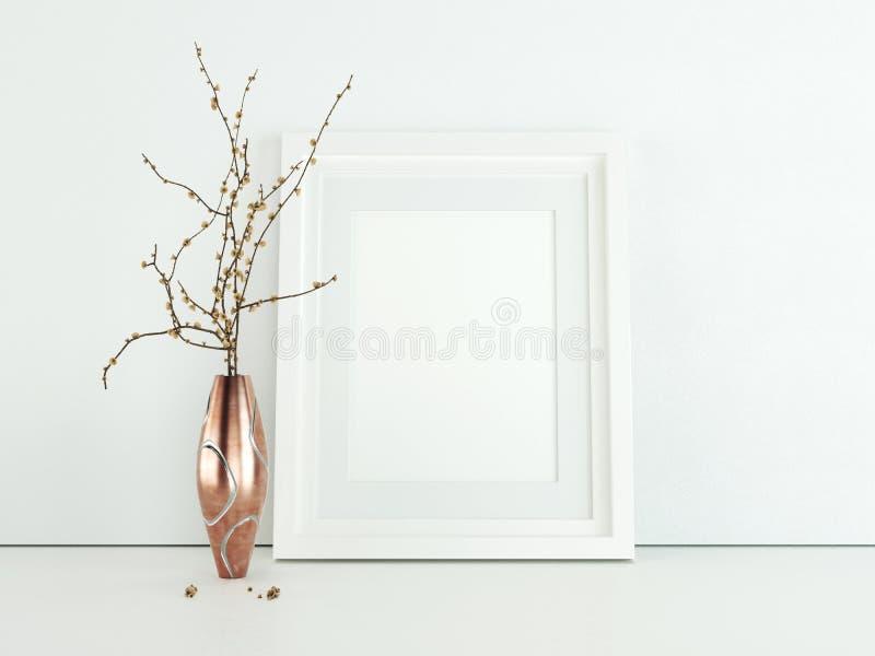 Het ontwerp gestileerd model van het afficheproduct Leeg kadermodel stock foto's