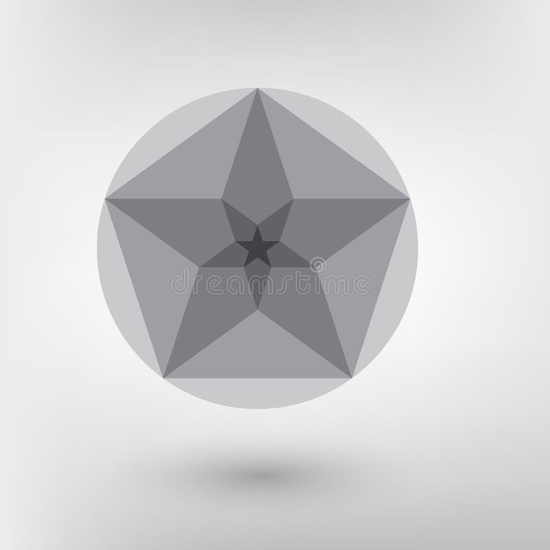 Het ontwerp Gouden verhouding van de Minimalisticstijl Futuristisch ontwerp Geometrische vormen royalty-vrije illustratie