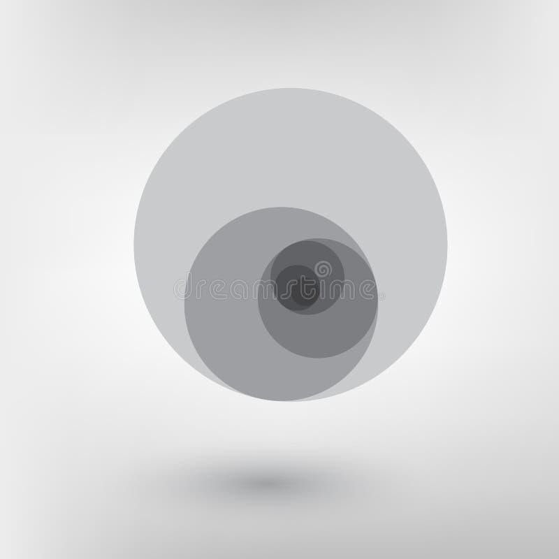 Het ontwerp Gouden verhouding van de Minimalisticstijl Futuristisch ontwerp Geometrische vormen stock illustratie