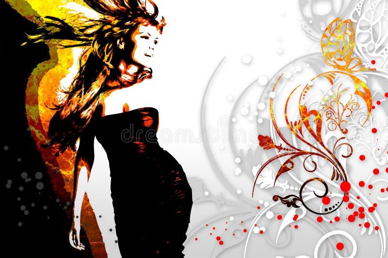 Het ontwerp grappig beeld van de muziek abstract kleur royalty-vrije illustratie