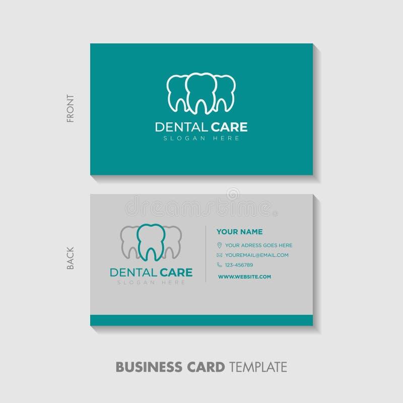 Het ontwerp van het adreskaartjemalplaatje Het tandmalplaatje van het embleemontwerp creatief teken royalty-vrije stock afbeeldingen