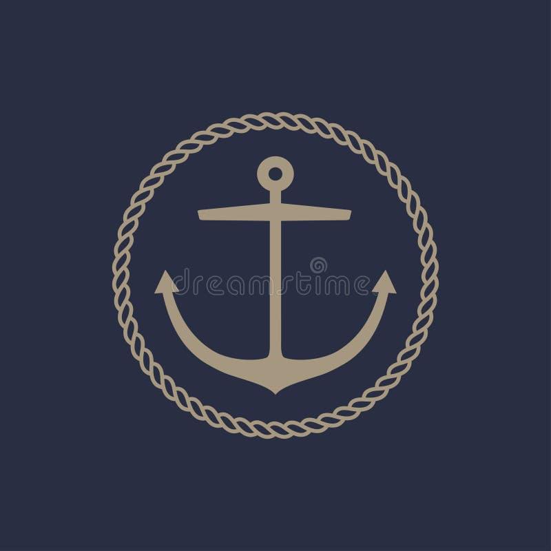 Het ontwerp van het ankerembleem royalty-vrije illustratie