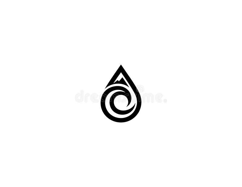 Het ontwerp van het Aquaembleem royalty-vrije stock fotografie