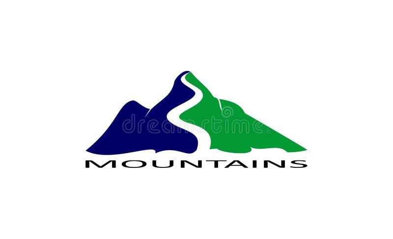 Het ontwerp van het bergenembleem stock illustratie