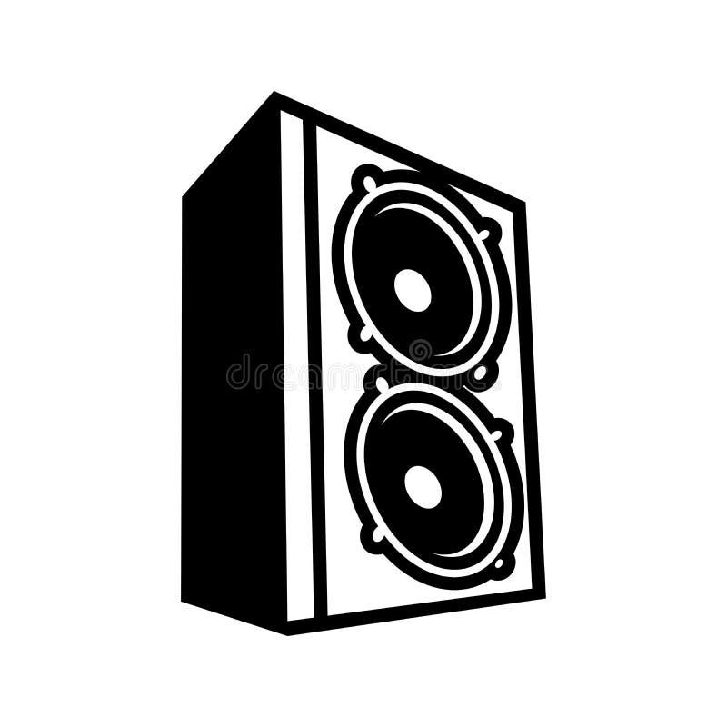 Het Ontwerp van boombass speaker illustration symbol logo stock illustratie