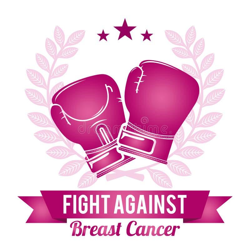 Het ontwerp van borstkanker stock illustratie
