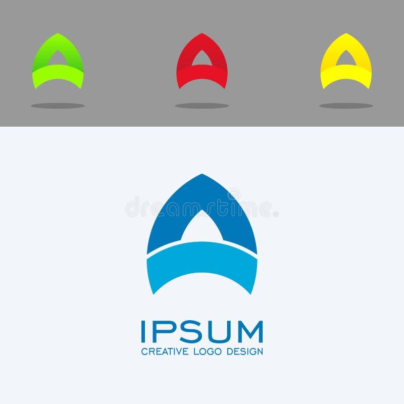 Het ontwerp van het brievena embleem eenvoudig embleem met vastgestelde kleur vector illustratie