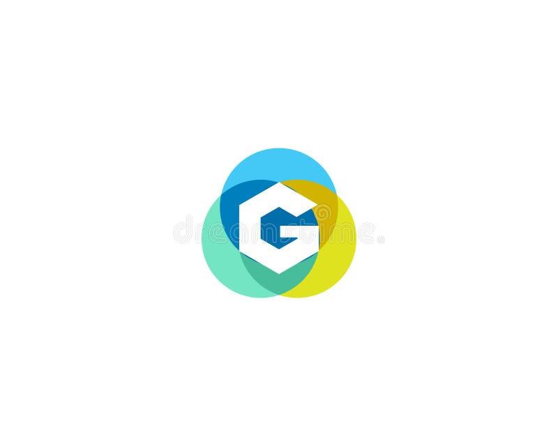 Het ontwerp van het brieveng embleem Het kleurrijke pictogram van de cirkelsbekleding logotype stock illustratie