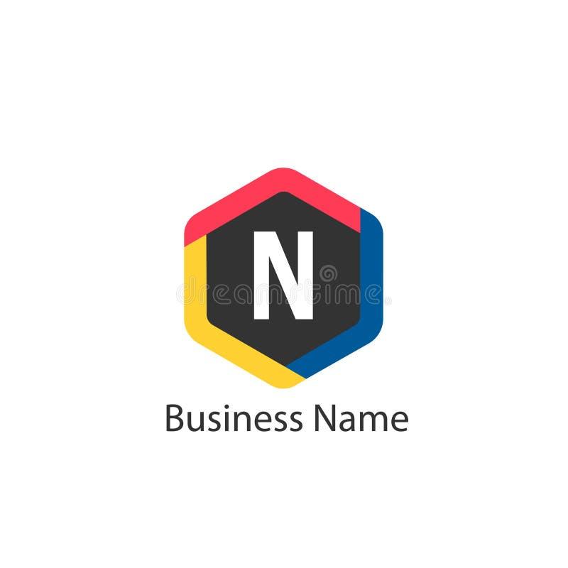 Het ontwerp van het brievenn embleem vector illustratie