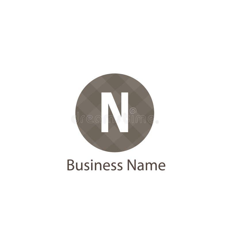 Het ontwerp van het brievenn embleem stock illustratie