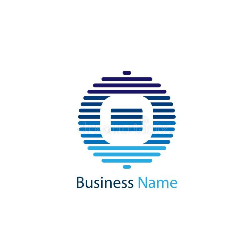 Het ontwerp van het brieveno embleem vector illustratie