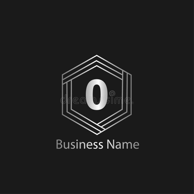 Het ontwerp van het brieveno embleem stock illustratie