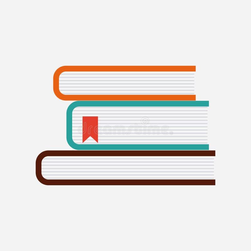 Het ontwerp van bureauboeken stock illustratie