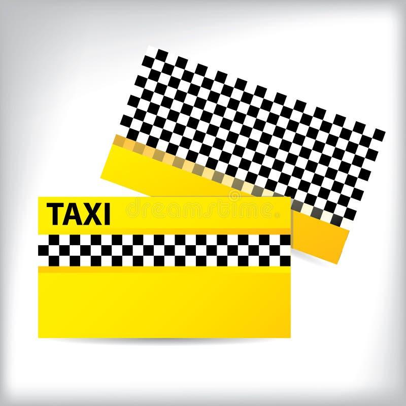 Het ontwerp van de adreskaartjetaxi stock illustratie