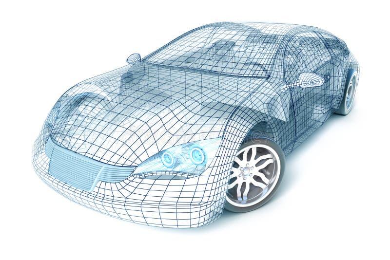 Het ontwerp van de auto, draadmodel. Mijn eigen ontwerp. vector illustratie
