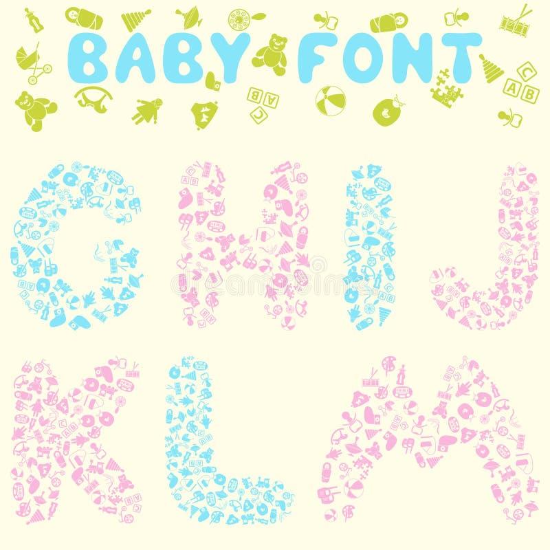 Het ontwerp van de babydoopvont royalty-vrije illustratie