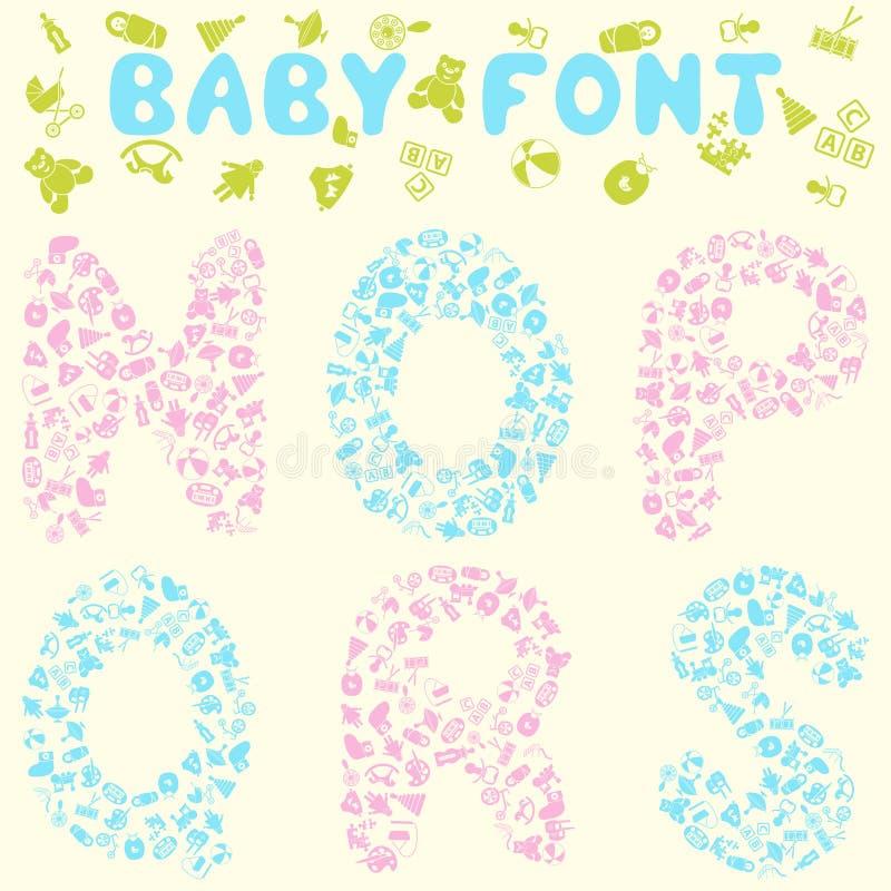 Het ontwerp van de babydoopvont stock illustratie