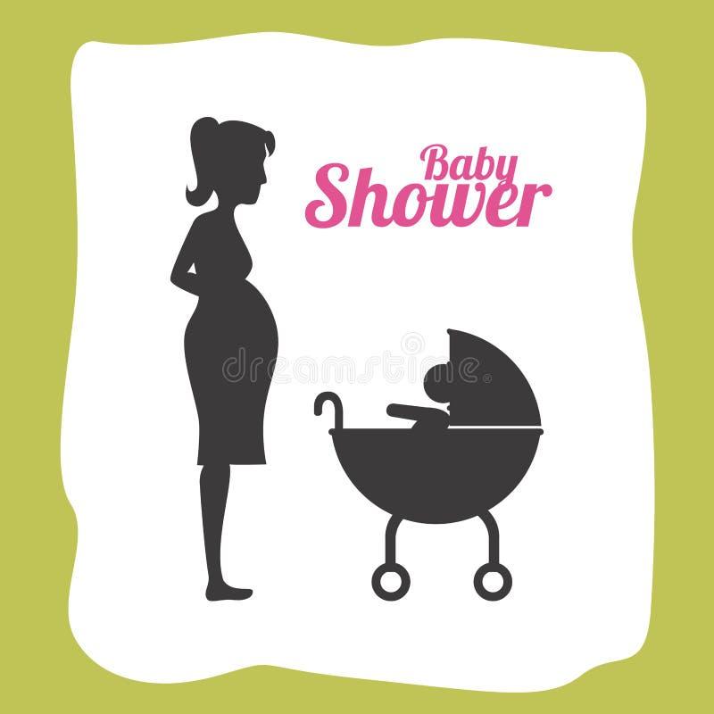 Het ontwerp van de babydouche stock illustratie