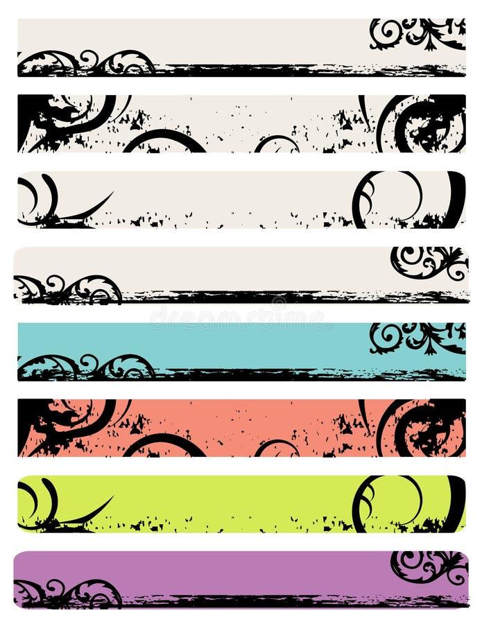 Het Ontwerp van de Banner van het Web van het ornament royalty-vrije illustratie