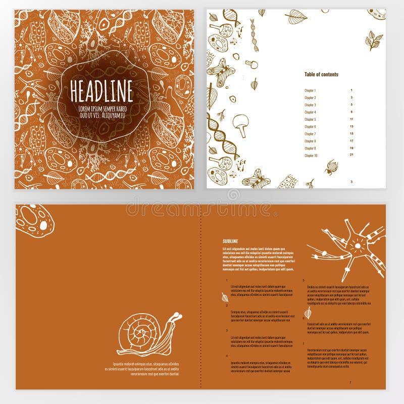Het Ontwerp van de biologiebrochure royalty-vrije illustratie