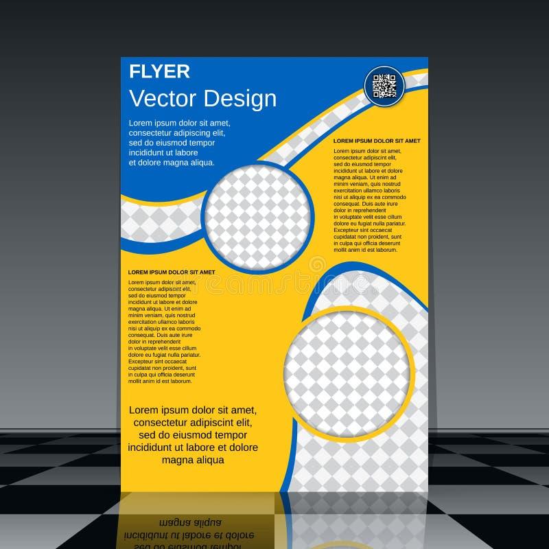 Het ontwerp van de brochuredekking royalty-vrije illustratie