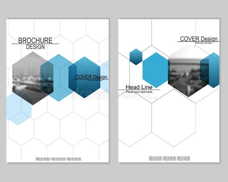 Het ontwerp van de brochuredekking stock illustratie