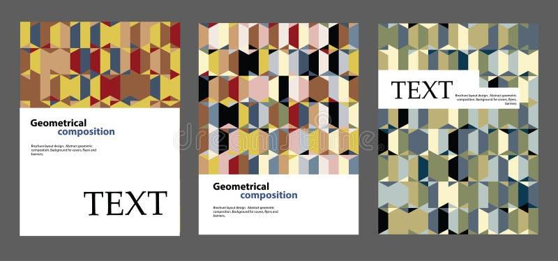 Het ontwerp van de brochurelay-out Achtergronden voor dekking, vliegers, banners vector illustratie