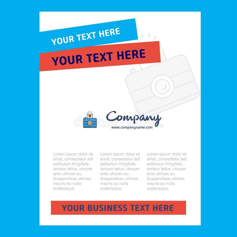 Het Ontwerp van de cameratitelpagina voor Bedrijfprofiel, jaarverslag, presentaties, pamflet, Brochure Vectorachtergrond royalty-vrije illustratie