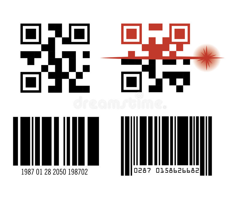 het ontwerp van de codebar stock illustratie
