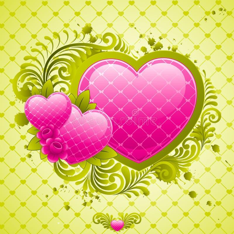 Het ontwerp van de Dag van valentijnskaarten. vector illustratie