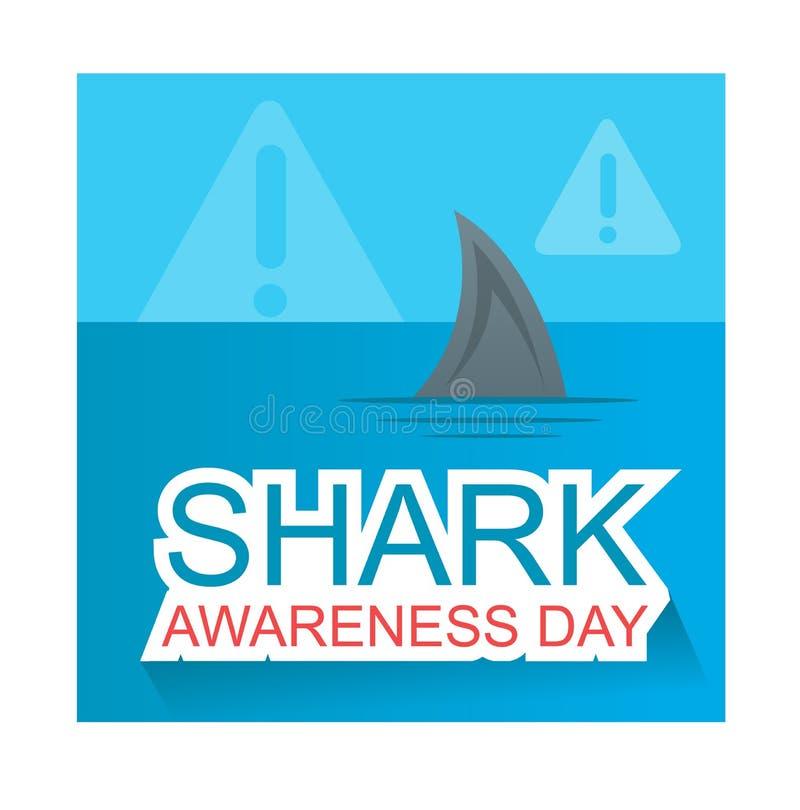 Het ontwerp van de de Dagillustratie van de haaivoorlichting vector illustratie