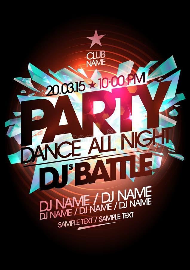Het ontwerp van de danspartij, de slag van DJ vector illustratie