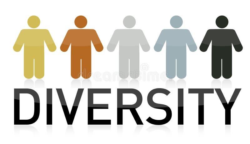 Het ontwerp van de de mensenillustratie van de diversiteit vector illustratie