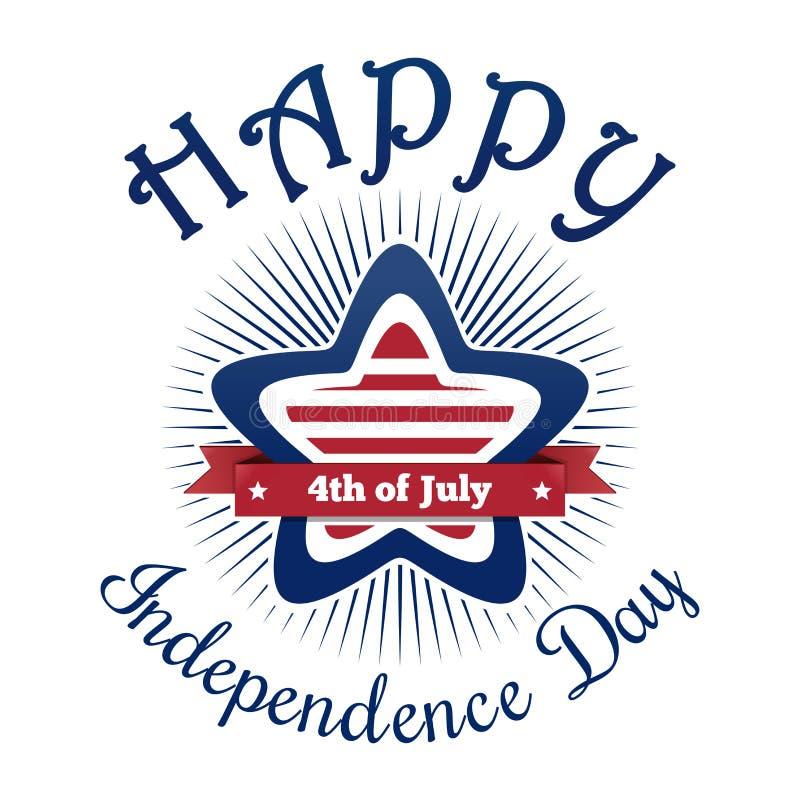 Het ontwerp van de de Onafhankelijkheidsdag van de V.S. stock illustratie