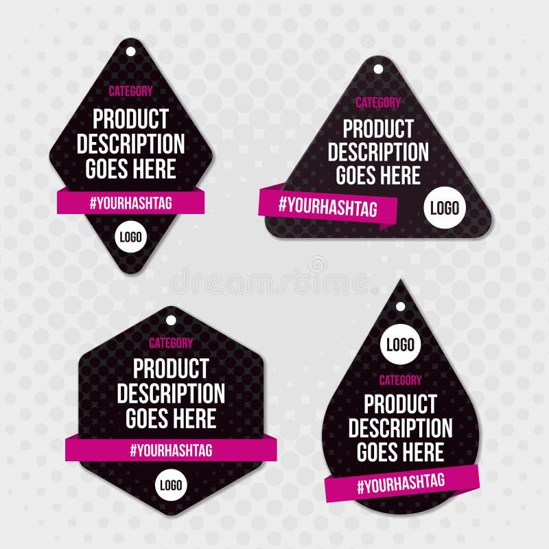 Het ontwerp van de de schommelingsmarkering van het productetiket stock fotografie