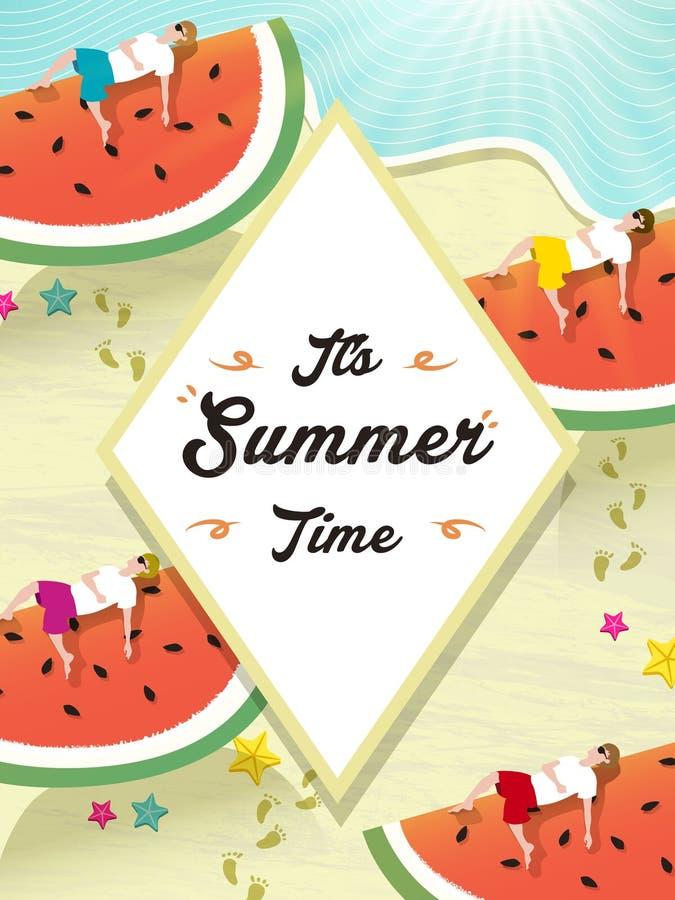 Het ontwerp van de de zomeraffiche stock illustratie