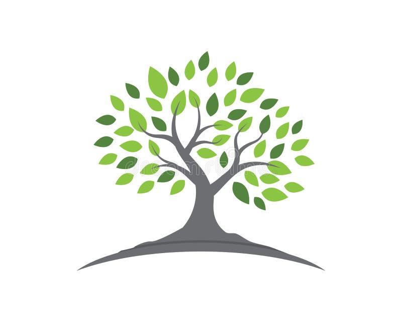 Het ontwerp van de de ecologieaard van het boomblad stock illustratie