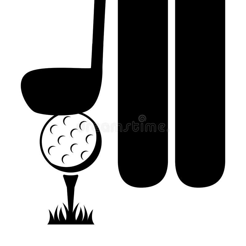 Het ontwerp van de golfsport royalty-vrije illustratie