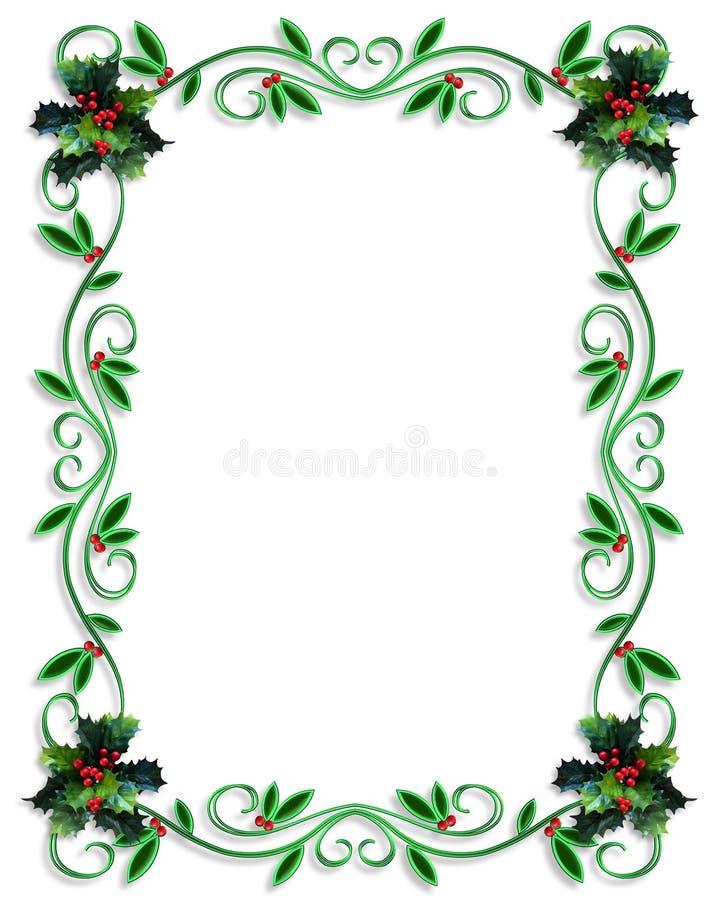Het ontwerp van de Grens van Kerstmis royalty-vrije illustratie