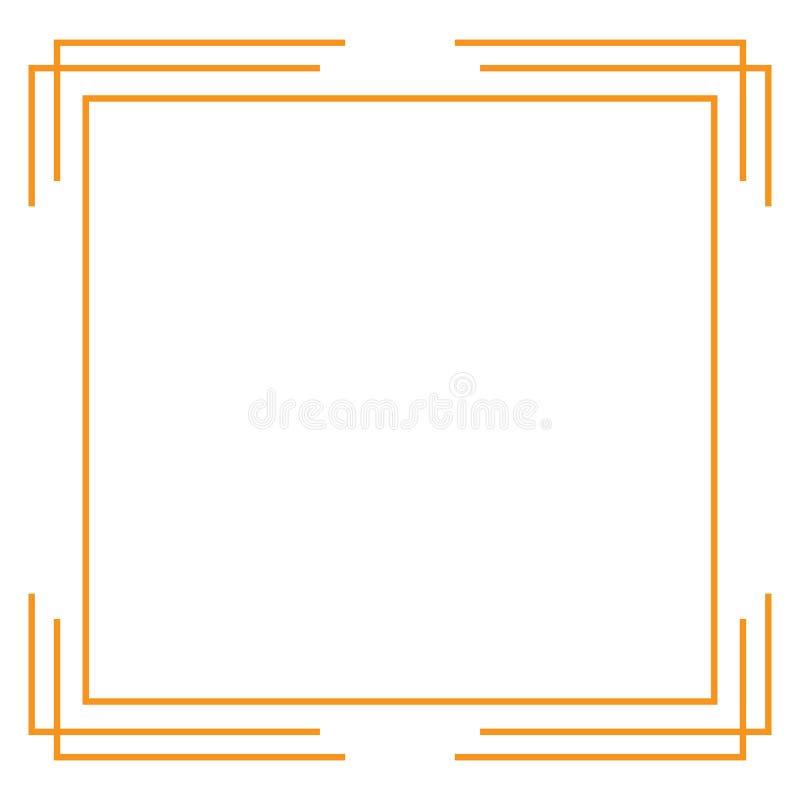 Het ontwerp van de grenslijn vector illustratie