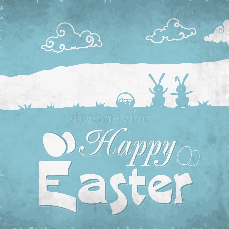 Het ontwerp van de groetkaart voor Gelukkige Pasen-viering stock illustratie