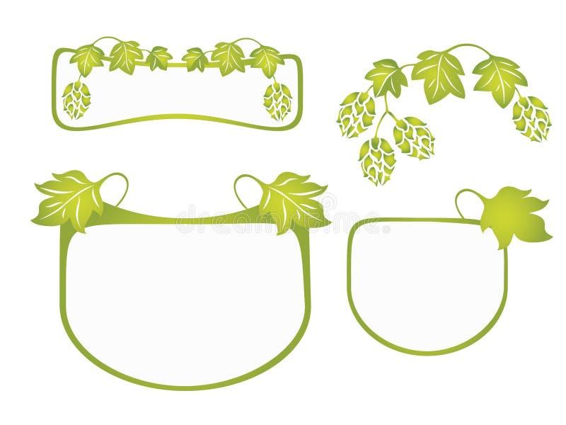 Het ontwerp van de hop royalty-vrije illustratie