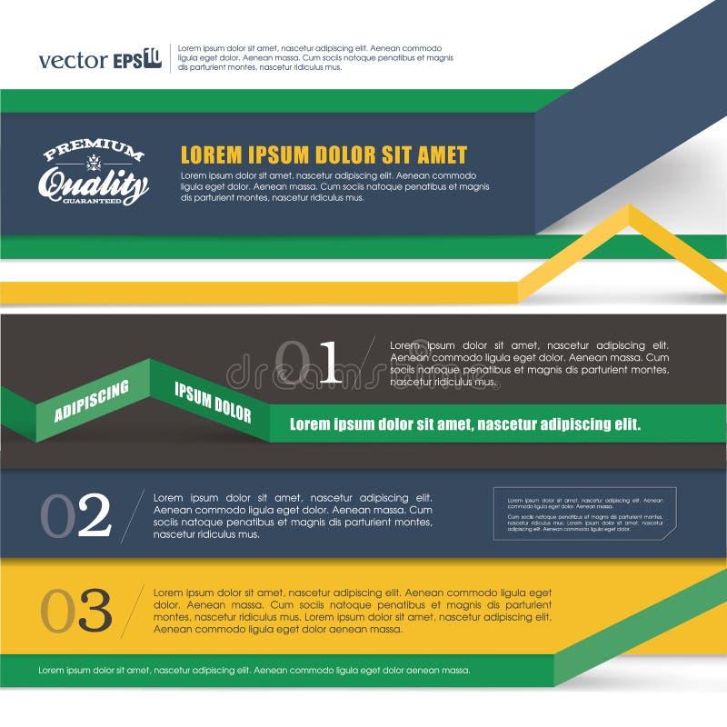 Het Ontwerp van de Infographicsbanner royalty-vrije illustratie
