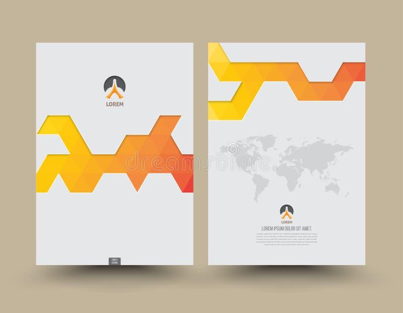 Het ontwerp van de jaarverslagdekking royalty-vrije illustratie