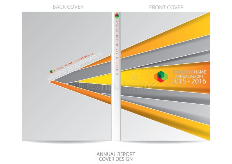 Het ontwerp van de jaarverslagdekking vector illustratie