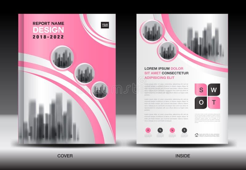 Het ontwerp van de jaarverslagdekking, het malplaatje van de brochurevlieger, bedrijfsreclame, bedrijfprofiel vector illustratie