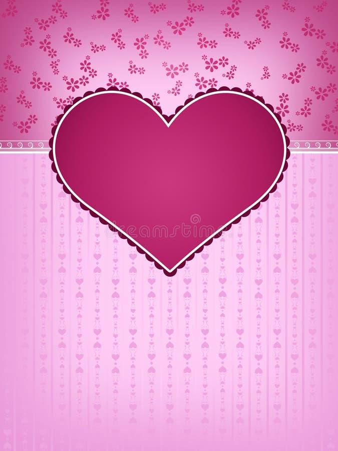 Het Ontwerp van de Kaart van de Dag van de valentijnskaart stock illustratie
