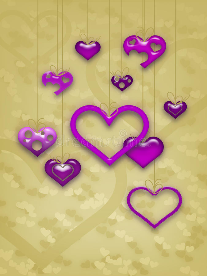Download Het Ontwerp Van De Kaart Van De Dag Van De Valentijnskaart Stock Illustratie - Afbeelding: 12863548