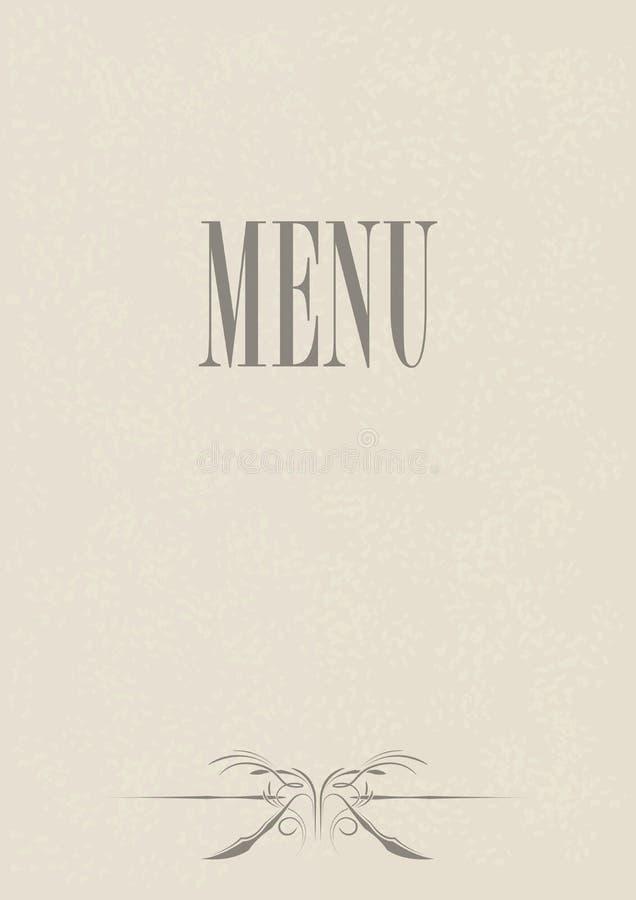 Het Ontwerp van de Kaart van het menu vector illustratie