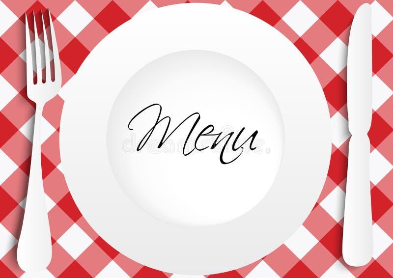 Het Ontwerp van de Kaart van het menu stock illustratie